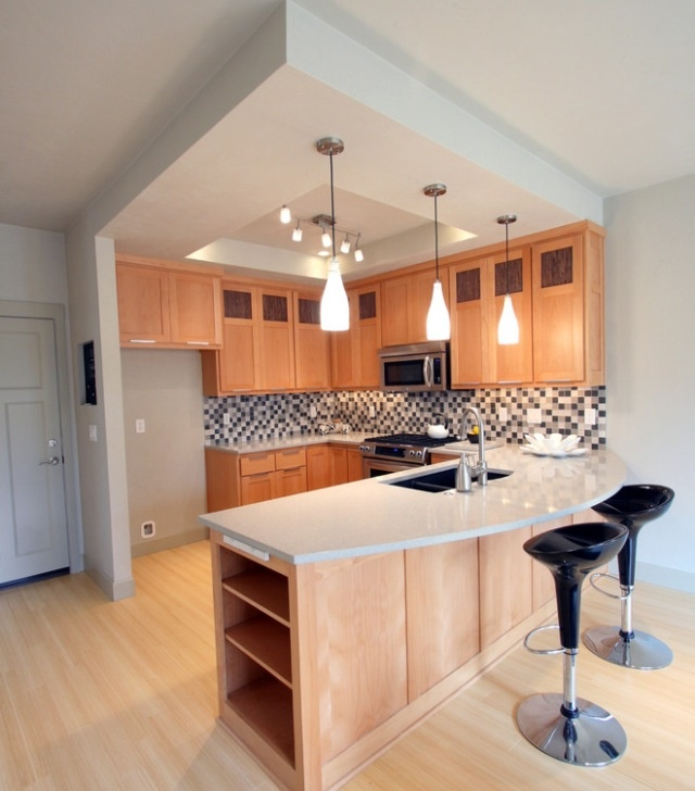 Great modern kitchen design for small space modern