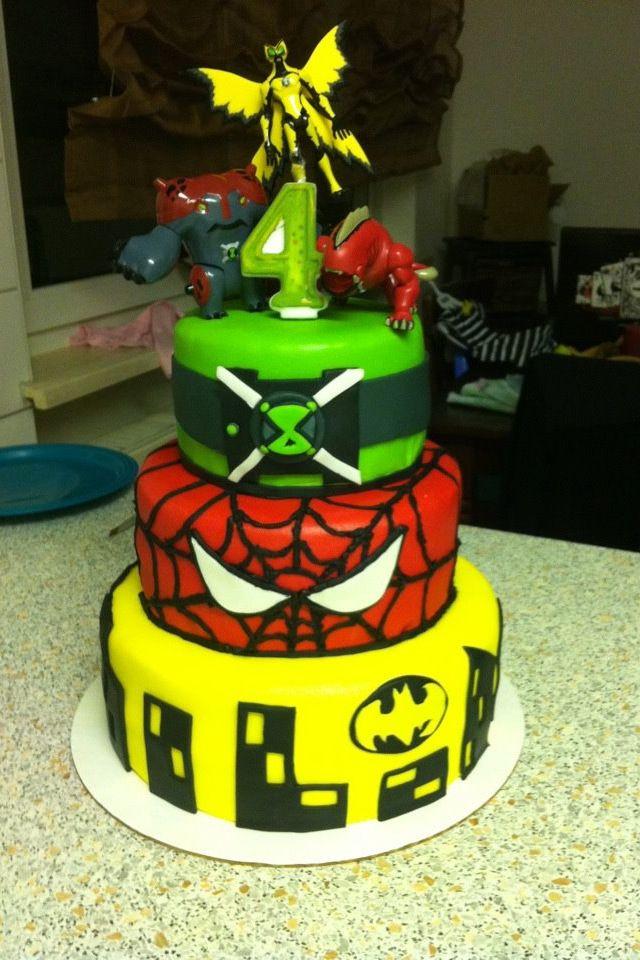 Super Hero Cake Ben 10 Birthdays Pinterest Heroes