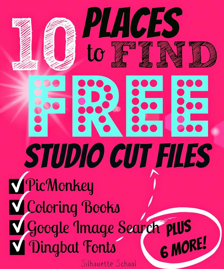 10 Places to Find FREE Silhouette Cut Files (Silhouette