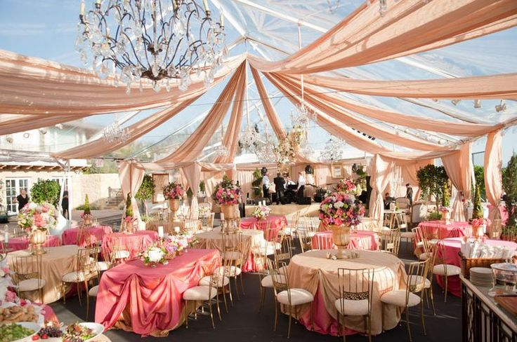 Wedding & Party Tent Decoration Ideas
