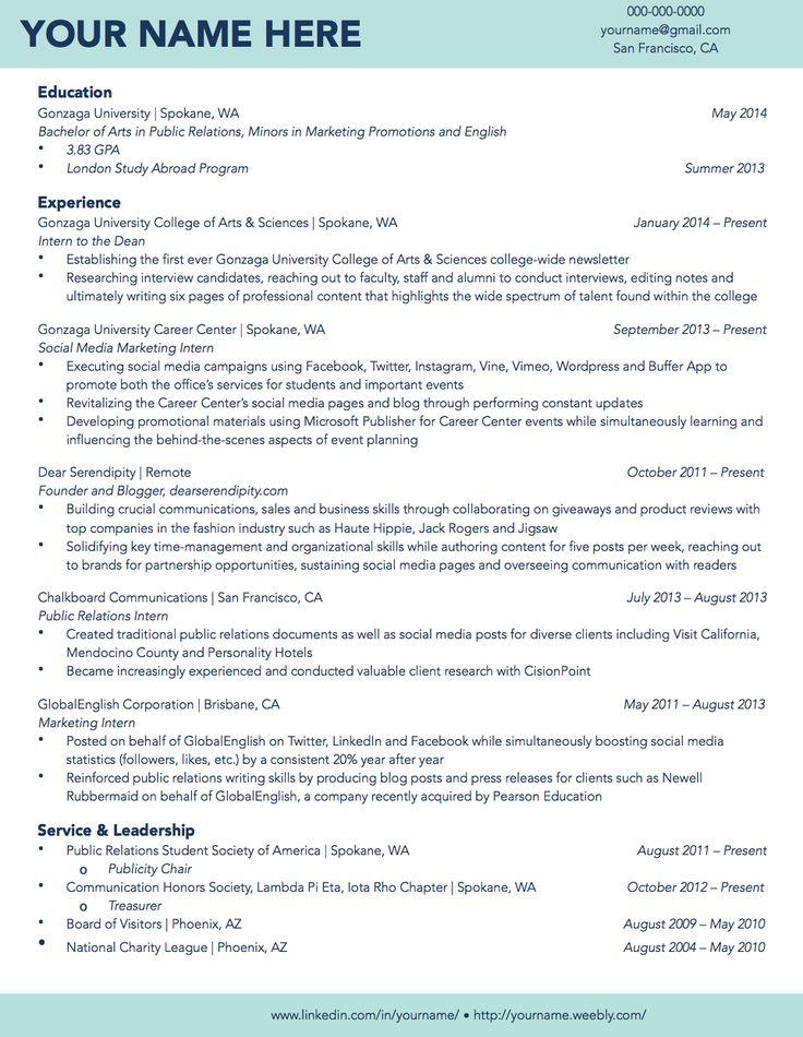 Sample Resume - High School Student - Volunteer - AIE