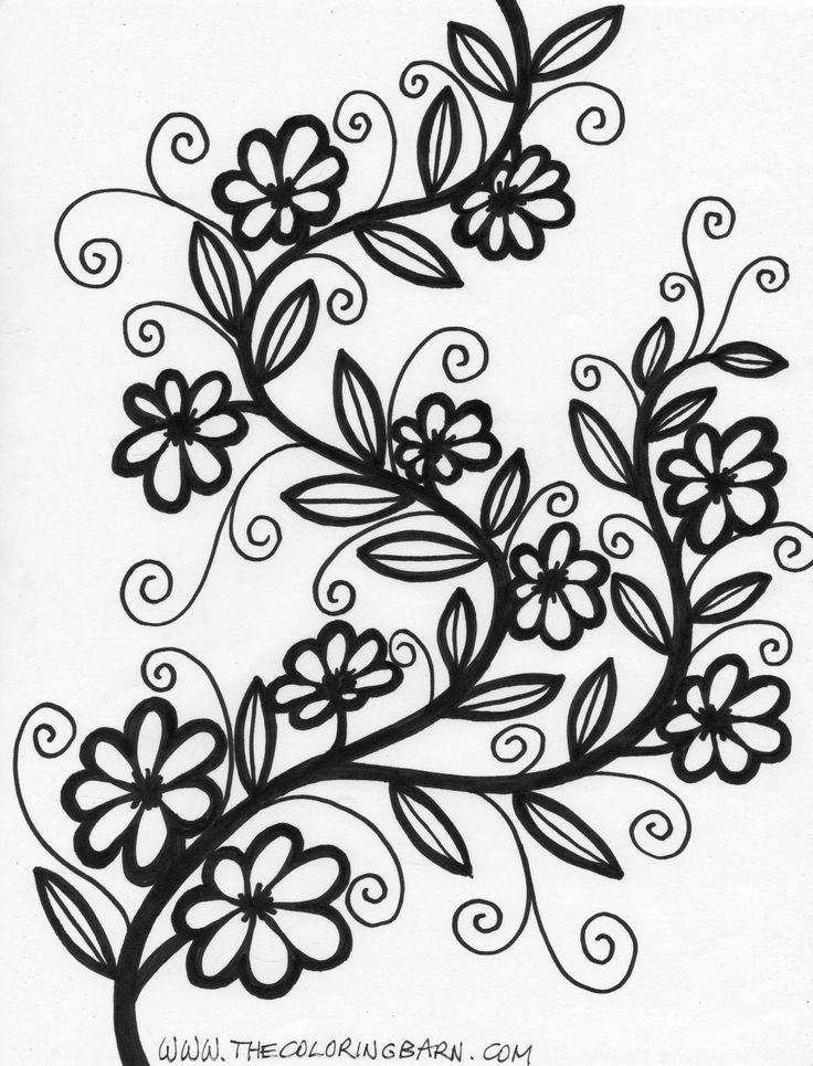 flower coloring pages for adults more flower coloring pages coloring