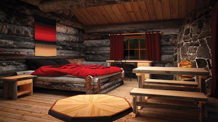 Finland Log Cabins Northern Lights