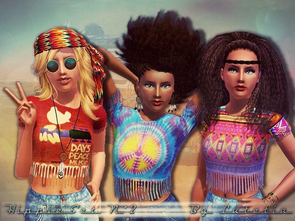 Lutetias Hippie Set No 2 Shirt Teen Sims 3