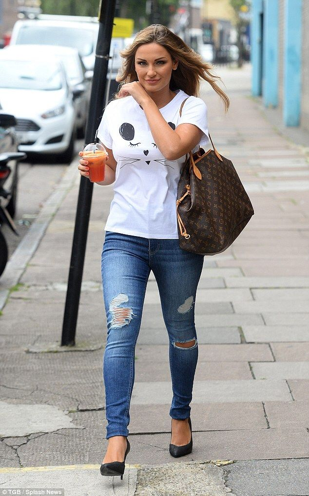 Sam Faiers in ripped denim Distress Ripped Denim