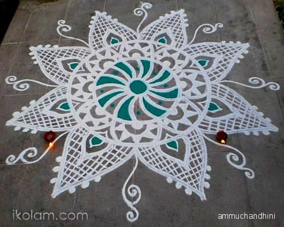 Beautiful Kolam If You Want To Learn Drawing That Come