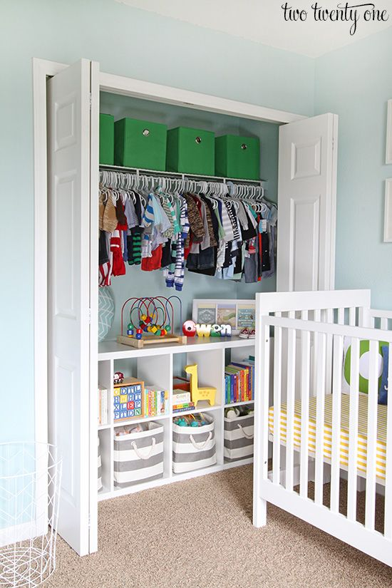 yes – this IS a nursery – but it would also be a good idea for the closet in a craft room, right?