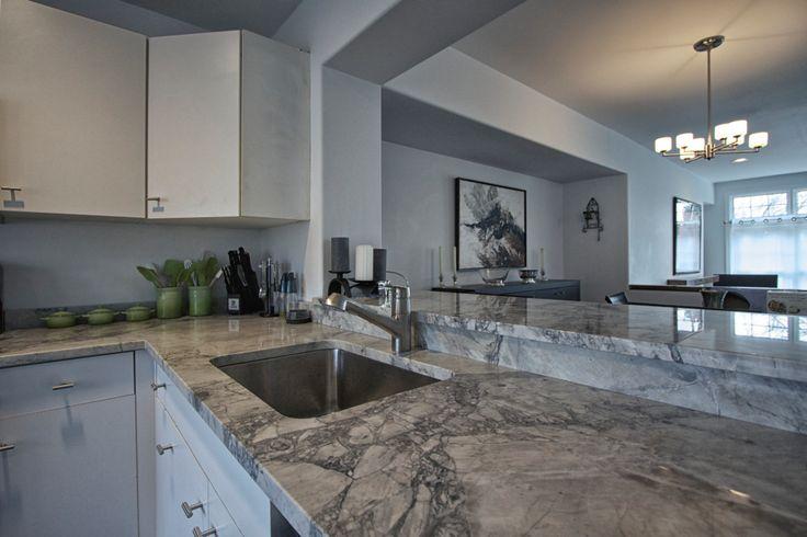 White Vermont Quartzite Super White Quartzite Kitchen
