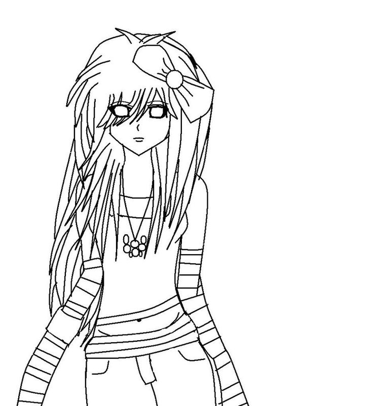 emo coloring pages printable  cartoon coloring pages