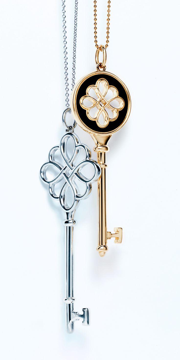 Tiffany Keys knot pendants, from le