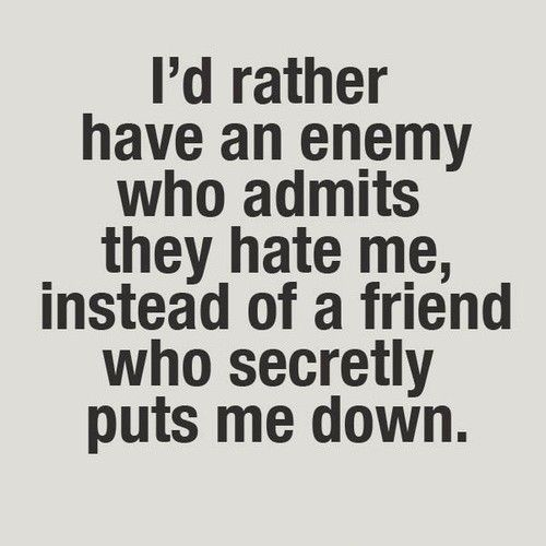 AMEN!! That goes for family too!!! There is nothing worse than knowing that the people you think are good people but are really