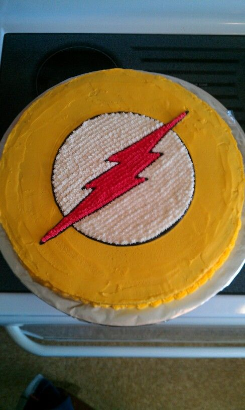 Young Justice Flash Birthday Cake My Cakes Pinterest