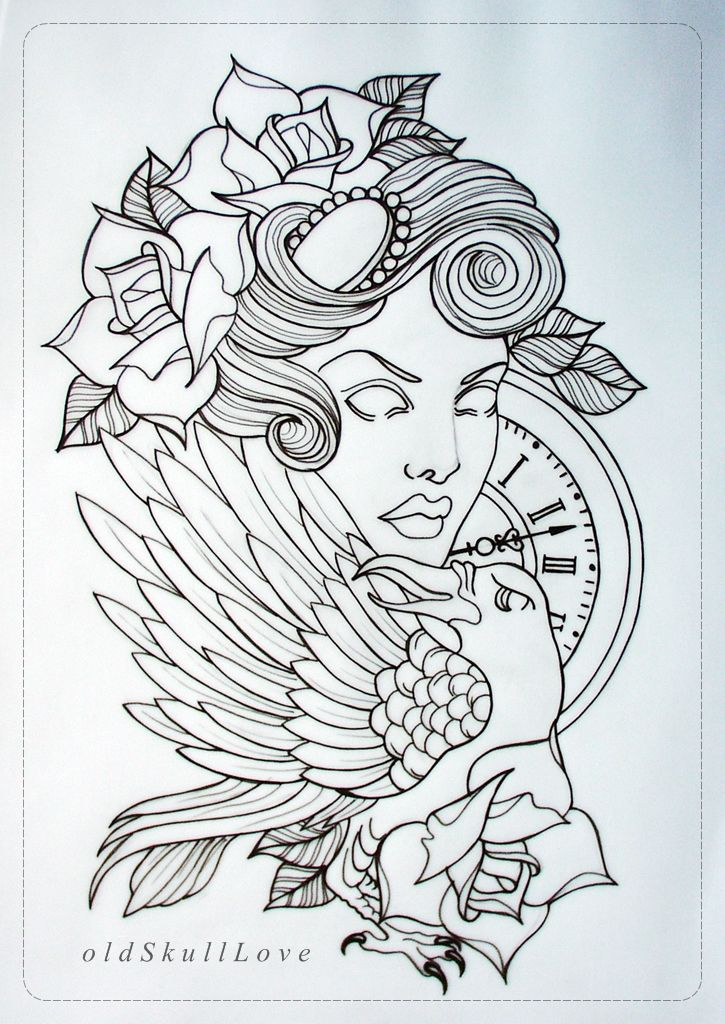 tattoo design OUTLINE by