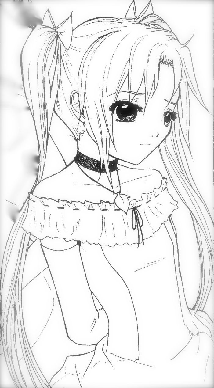 anime coloring page sad adult coloring coloring pages adults