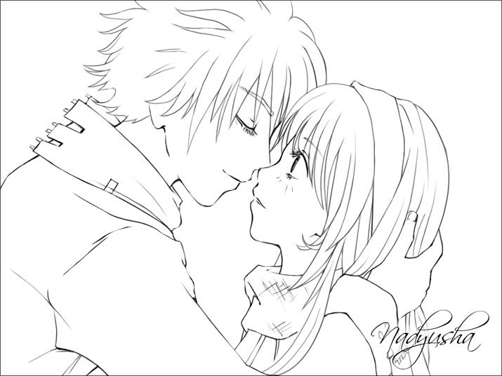 best anime couples coloring pages and anime couples on pinterest