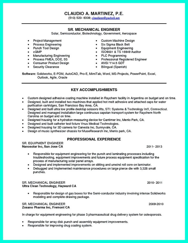 resume engineers and resume examples on pinterest