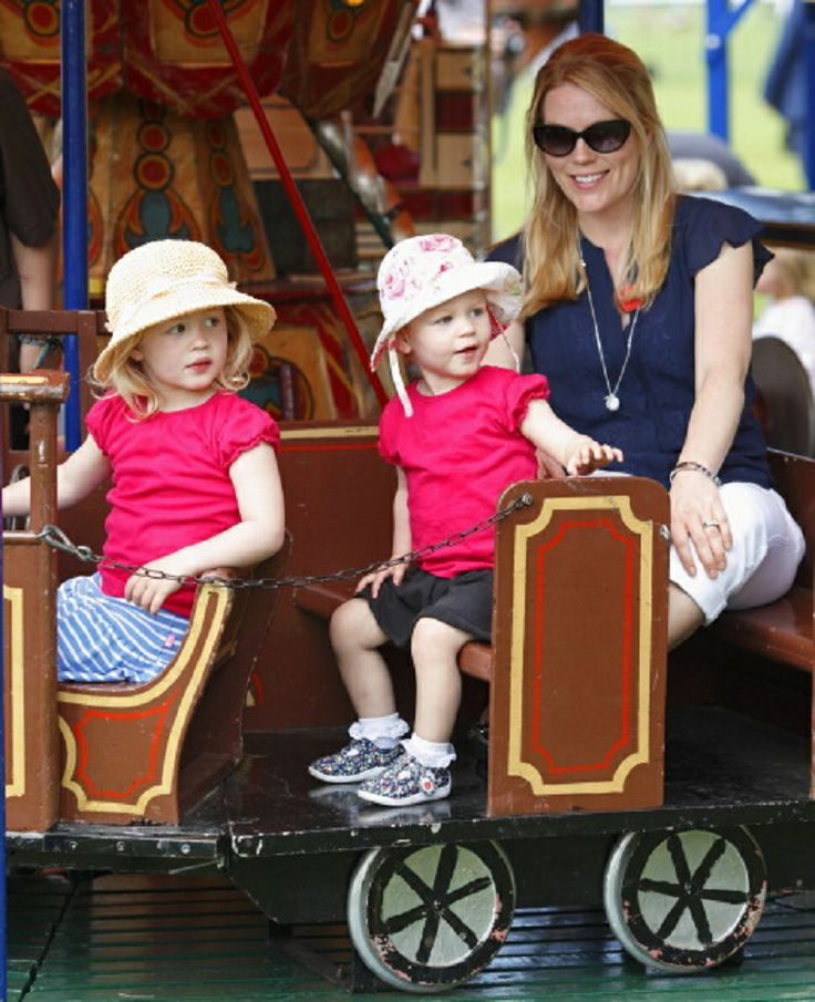 Autumn Phillips and daughters Savannah Phillips (left) and