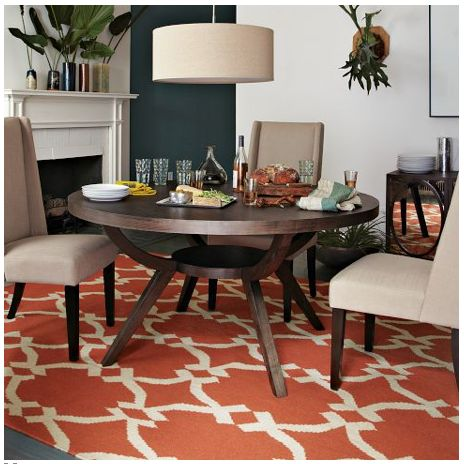 Rug Under Round Table Kitchen Square Rugs