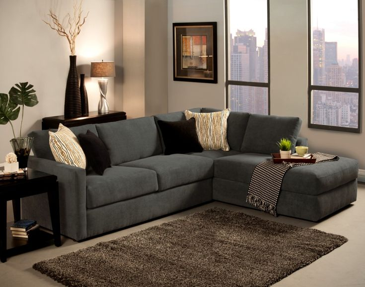 Grey L Shaped Sofa Chaise Lounge Sofa Complete Beige And