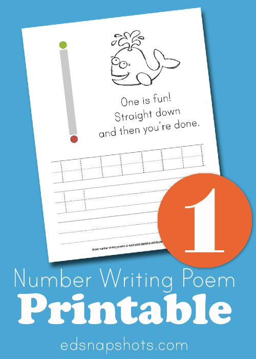 Learn to Write Numbers Poem