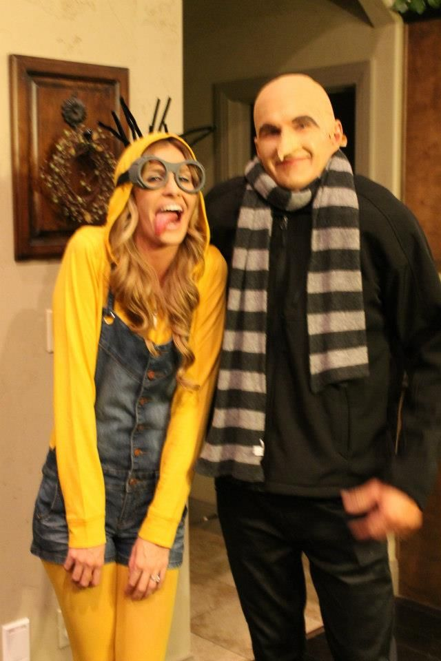 Costume Minion and Dr. Gru–Ryan and I should totally do this!