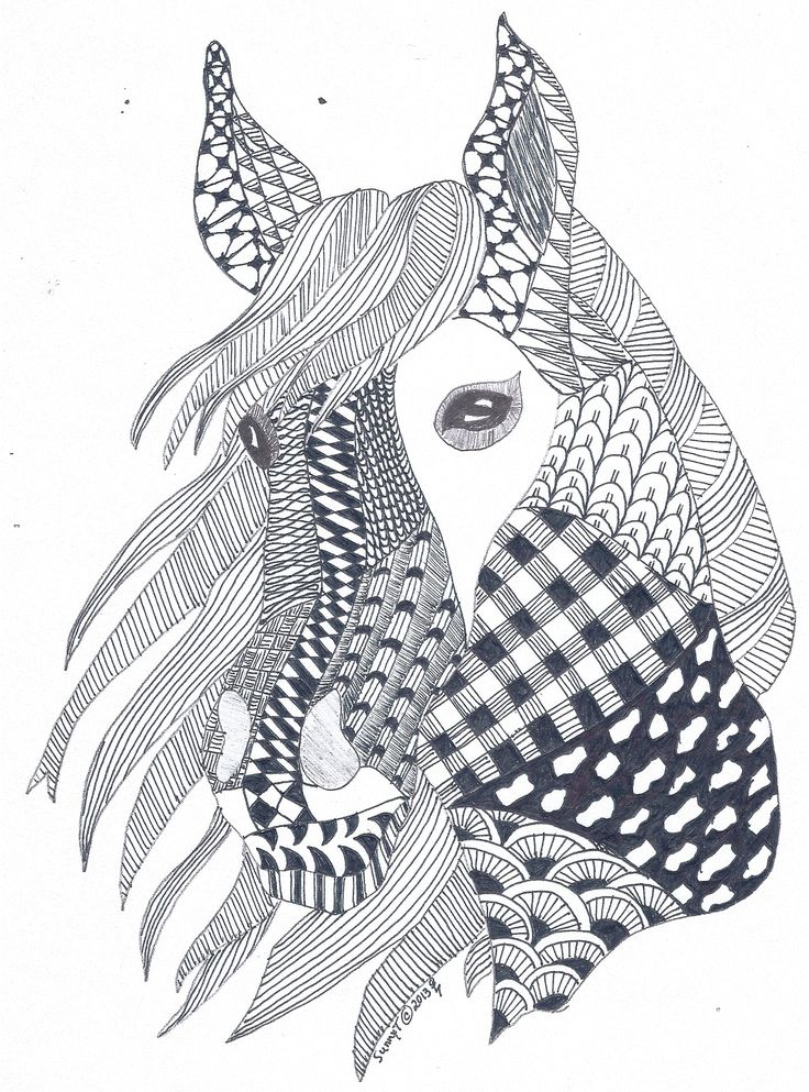 Horse zentangle I created for my fatherinlaw for