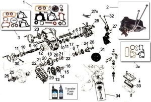 Dana Model 18 Transfer Case Parts for CJ Willys | Jeep