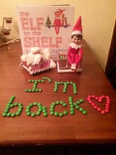 "Elf on the Shelf ideas ""Welcome Back!""...:"