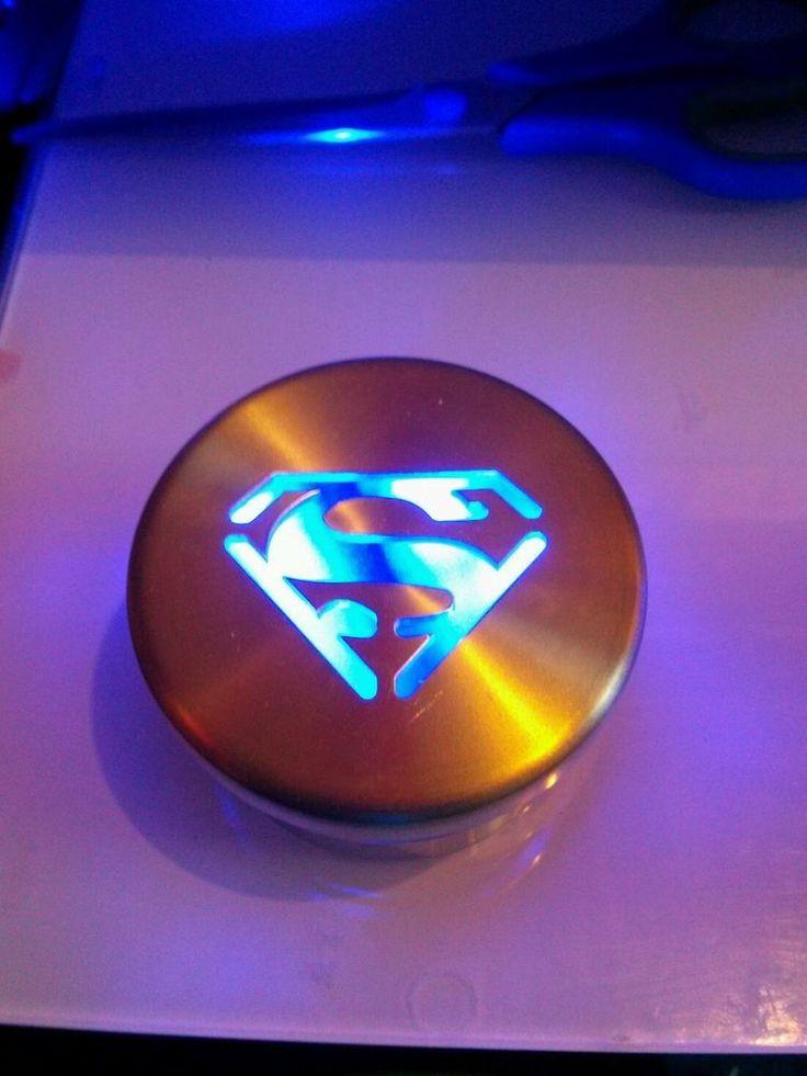 Glo Ryder Blue LED Wheel Lights W Superman Logo Cap