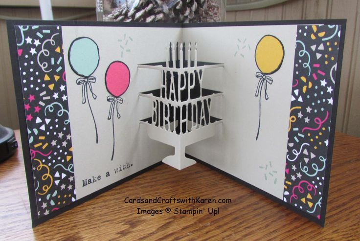 Inside Of Brothers Birthday Card Featuring Party Pop Up Thinlits By Stampin Up 247 Stampers