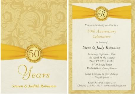 Por Wedding Invitation Blog Golden