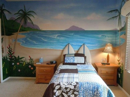 Love The Surfboard Headboard Bryces New Surf Room