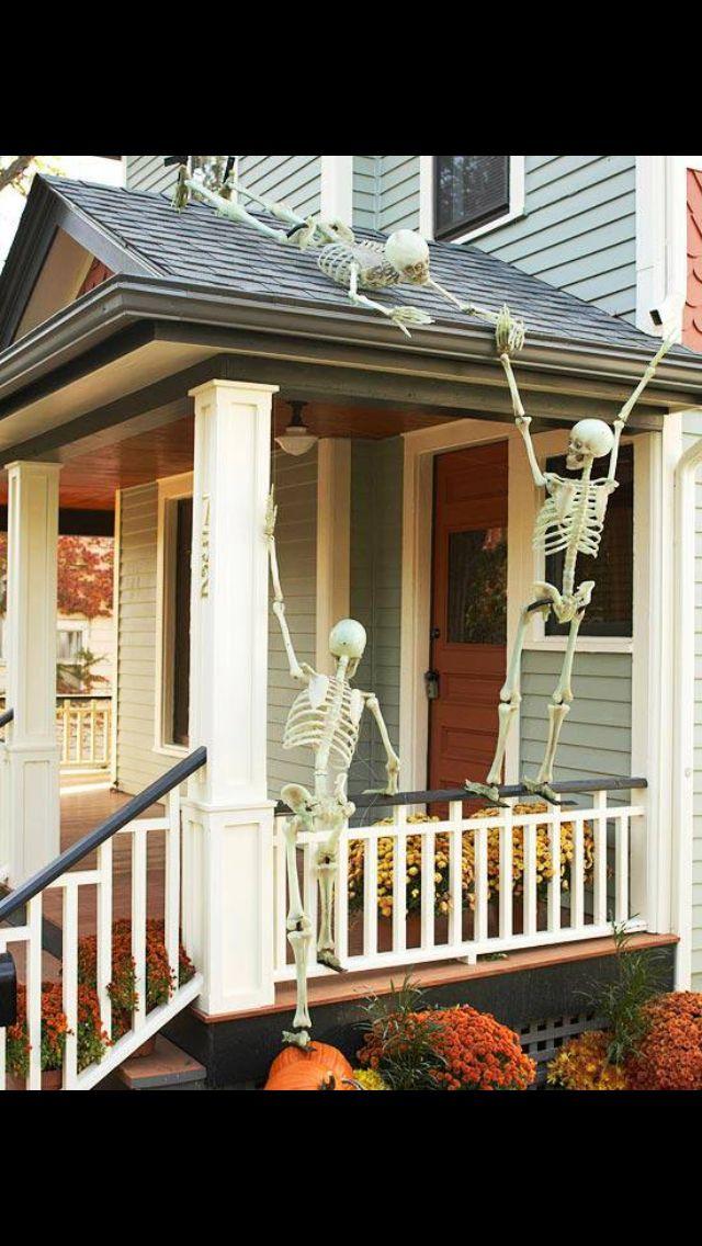Skeletons On Roof Halloween Pinterest Skeletons And On