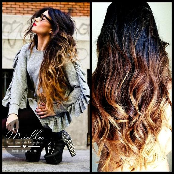 Tape In Hair Extensions SUNRISE OMBRE Natural Human
