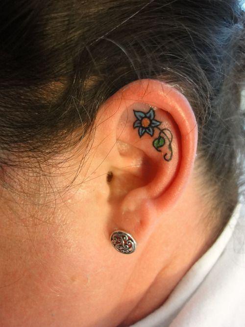 Best 20 Inner Ear Tattoo Ideas On Pinterest Ear Tattoos