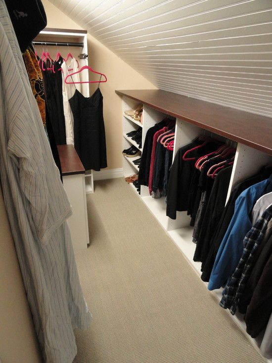 Contemporary Closet Sloped Ceiling Design Pictures