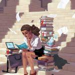 Sam Bosma Lawyer Magazine Girl Illustratio