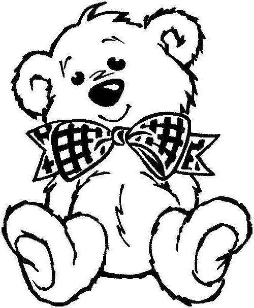 teddy bear coloring page tshirt idea Для Аппликации