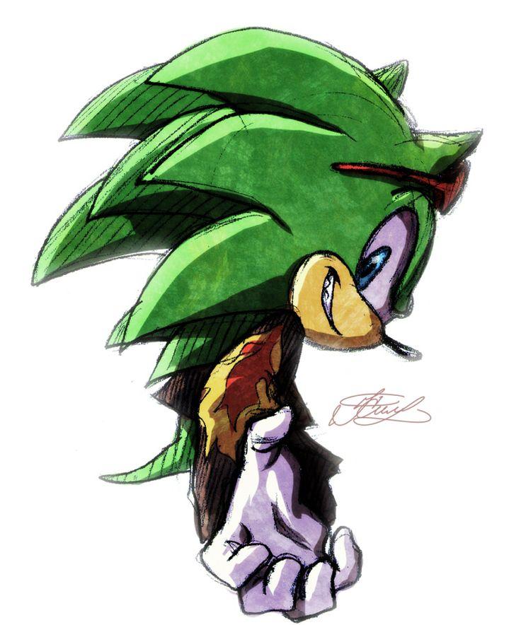 Sonic Espio Drawing Character