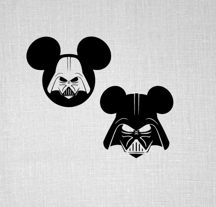 darth vader mickey svg, star wars SVG, disney svg for