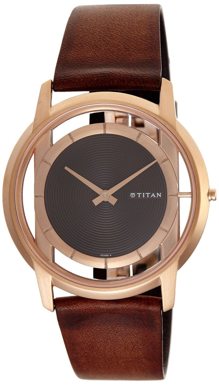 Titan Edge Analog Brown Dial Men's Watch 1577WL01 Titan