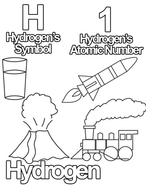 Free Coloring Pages From The Periodic Table Of