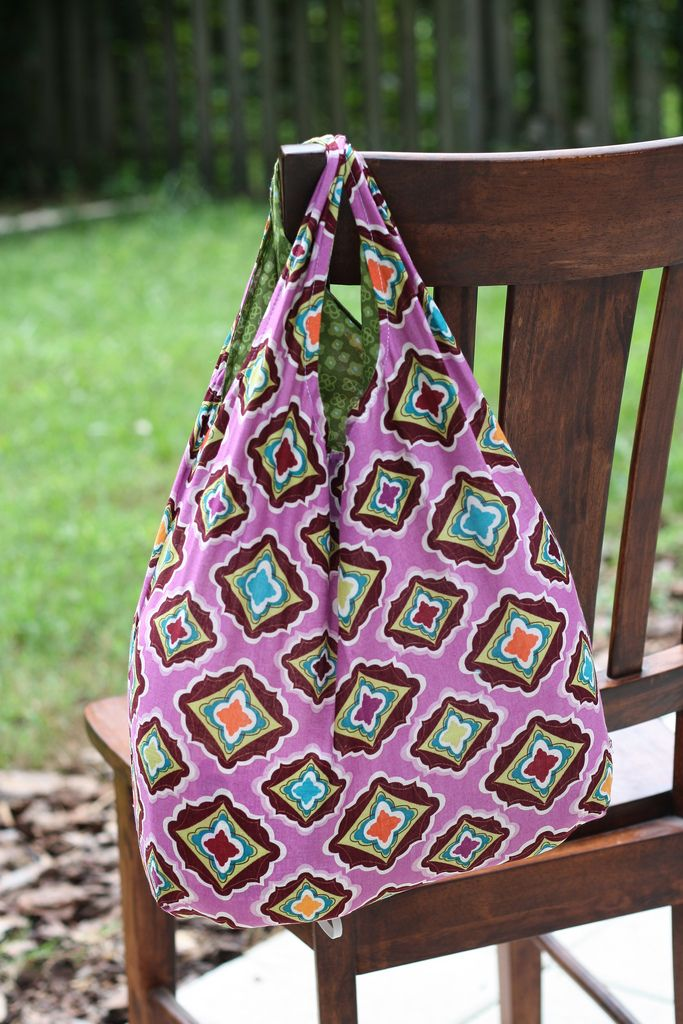 Tutorial Fat Quarter Reusable Grocery Bag with free