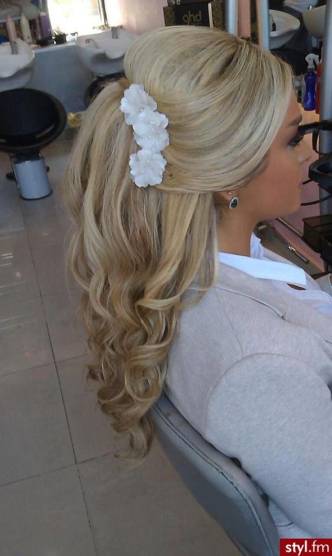 wedding hair: