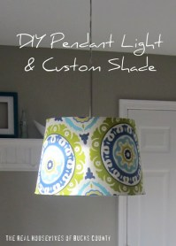 East Coast Creative: DIY Pendant Light & Custom Shade: