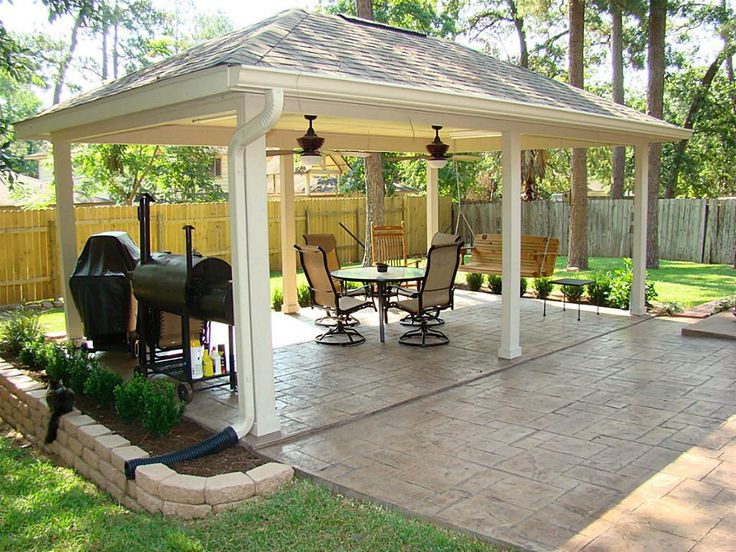 A Stamped And Stained Concrete Extension Leads You From