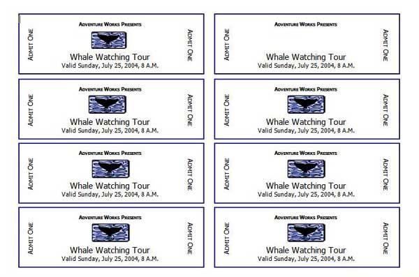 Ms Word Ticket Template template for making tickets make your own – Template for Making Tickets