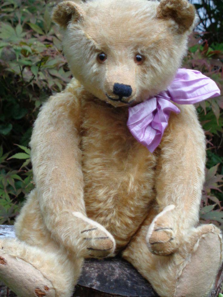 RARE Antique Steiff Teddy Bear Long Nose 1918 1927 Mohair