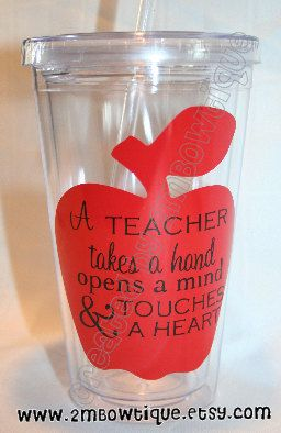 A Teacher Takes A HandTumbler Cup For Teachers Free