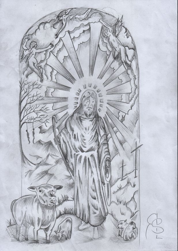 Pencil Sketch For Sleeve Tattoo Outlining As Above